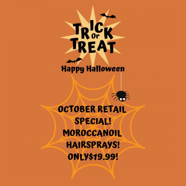 OCTOBER MOROCCANOIL HAIRSPRAYS! ONLY$19.99! (Instagram Post)